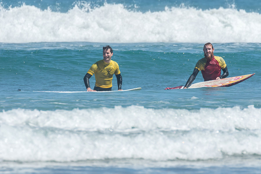 surf camp instruction in the canary islands